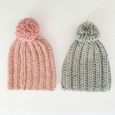 Crochet Pattern RIBBED Hat on ETSY