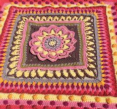 Turn your Mandala Block work into a Crochet Along Blanket! ~ free pattern ᛡ