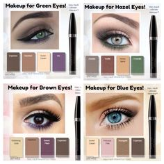 Mary Kay Eyeshadow, Eye Makeup Looks for different eye colors - Makeup Tips Highlighting Mary Kay Eyeshadow, Eyeshadow For Blue Eyes, Mary Kay Makeup, Makeup For Green Eyes, Green Eyes Pop, At Play Mary Kay, Mary Kay Ash, Mary Mary, Mary Kay Party