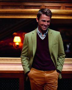 A smart casual prep look. http://www.annabelchaffer.com/categories/Gentlemen/