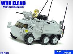 レゴブロックで作ったオリジナルの装甲指揮車です。 This is fictitious armored command vehicle. >>ディテール、ギミック、インテリア等の写真はこちら<< >>Detail, gimmick and interior photos<< 名称 ウォーエランド装甲指揮車 開発国 アストメリア共和国 開発企業 STUD SYSTEMS社 分類 指揮車 全長 約20ポッチ 全幅 約10ポッチ 全高 約7ブロック 重量 14.5t 最高速度 100km/h 航続距離 670km エンジン 355馬力ディーゼル 武装 12.7mm重機関銃×1 乗員 最大3名 部品点数 300ピース Title: War eland armored command vehicle Place of origin: Republic Astmeria Manufacturer: STUD SYSTEMS Type: command vehicle Length: About 20 LEGO stud Width: About 10 LEGO stud He...