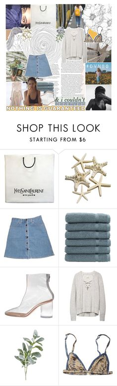 """listen to this ♡ dvnbg"" by adal1ne ❤ liked on Polyvore featuring Yves Saint Laurent, STELLA McCARTNEY, Linum Home Textiles, Maison Margiela, Pier 1 Imports, Rabens Saloner and dv"