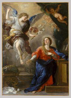 The Annunciation.Luca Giordano (Italian, Naples 1634–1705 Naples)  Date: 1672