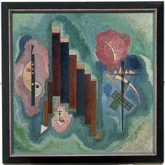 'Vers le bas', huile de Wassily Kandinsky (1866-1944, Russia)