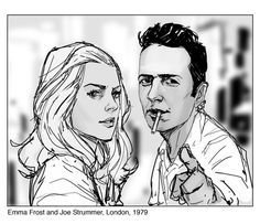 Emma FROST (The WHITE QUEEN) and Joe STRUMMER | An ARTIST: Phil NOTO