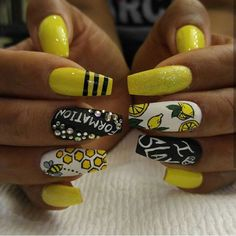 Beyonce Lemonade/Formation inspired nails