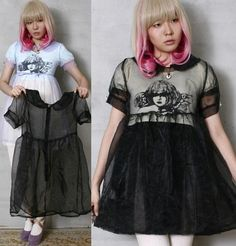 Angel Dark Angel Dolly Peter Pan Collar Lolita Sheer Overlay Sheer Tulle Dress | eBay