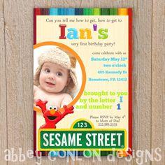 Sesame Street Birthday Invite PRINTABLE by AbbeyConlonDesigns, $14.00