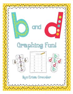 Do your students reverse the lowercase letters b and d? Use this b and d graphing activity to help students practice the correct formations of the letters b and d. There are three dice options and two different recording sheets. Graphing Activities, Alphabet Activities, Writing Activities, Teaching Reading, Fun Learning, Guided Reading, Teaching Ideas, Kindergarten Literacy, Preschool
