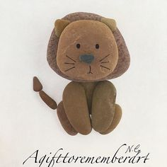 """Little lion"" kids collection #agifttorememberart #pebbleart #pebble #art #handmade #unique #etsy #lion #animal #nature #etsyseller #australia #beach #makersgonnamake #kids #kidsroom #baby #babyroom #craft #instaphoto #instaart #madebyme #gift #giftideas #birthdaygift"