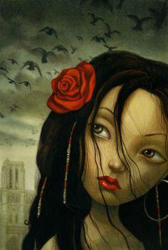 Benjamin Lacombe - Notre-Dame de Paris (The Hunchback of Notre Dame) #ilustracion #art #arte