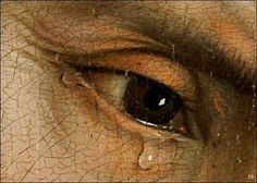 Detail : Decent from the Cross. 1435.  Rogier Van Der Weyden. Flemish. 1399-1464. oil on canvas. Prado Museum.