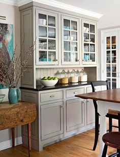 Small Kitchen Ideas: Traditional Kitchen Designs Built In Buffet