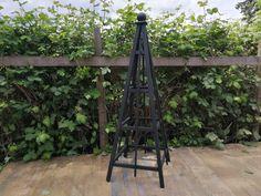 """6' Slate Black Stain Obelisk with 24"""" base."""