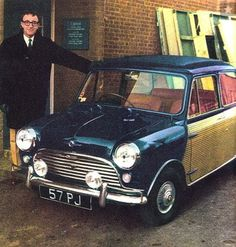 Peter Sellers with his Mini