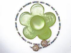 Collana girocollo in vetro di Murano e cristalli, idea regalo collana, collana donna, collana per lei, collana particolare, vetro di Murano