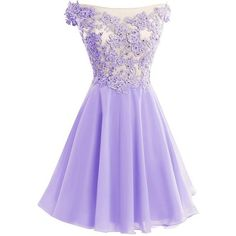 Cute Lavender Lace and Chiffon Short Party Dresses, Purple Homecoming Dresses, Off Shoulder Formal Dresses
