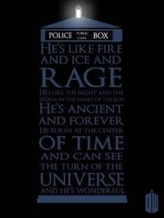 Perfect description of the Doctor. I loved this episode.