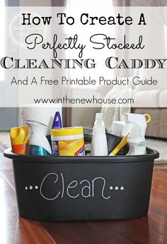 'How To Create A Perfectly Stocked Cleaning Caddy...!' (via In The New House Designs)