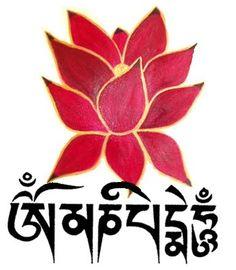 Om Mani Padme Hum significa que en la dependencia de la práctica de un camino que es la unión indivisible del método y la sabiduría, tú puedes transformar tu cuerpo, habla y mente impura al cuerpo, habla y mente pura y exaltada de un Buda. Dalai Lama
