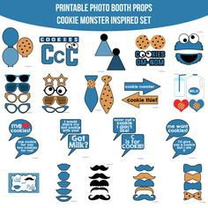 Instant Download Cookie Monster Inspired by AmandaKPrintables