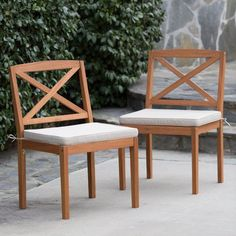 Belham Living Brighton Dining Chair Set of 2 with Cushion - Natural - VFS-GB08HD