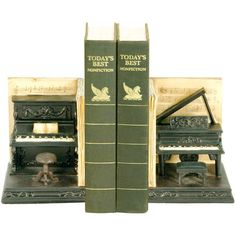 Piano Bookend Set