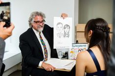 A caricature artist can be a fun addition to any party.
