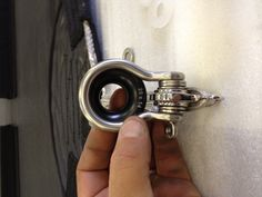 Chainplate solution for soft shrouds. Ronstan 10mm HR shackle + Antal ring + nylon Washers.