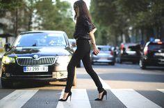 Black look Paris jeans and shirt