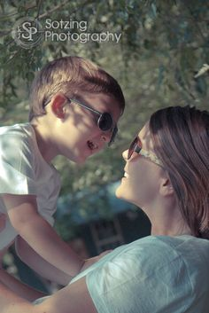 mom and son....