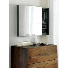 "Shop SAIC valet 23. 5"" jewelry cabinet with mirror.   Above dresser in Master? To left of bathroom"