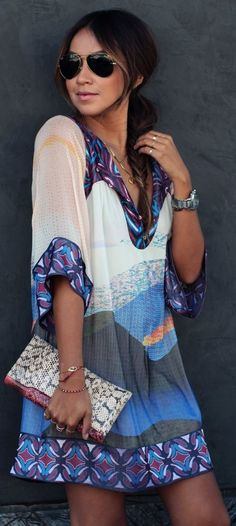 DVF Vail Printed Silk Tunic Dress by Sincerely Jules