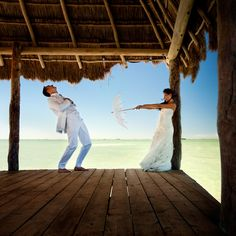 Day after Wedding Photo Session by Zasil Studios on the beach in Mexico   via junebugweddings.com