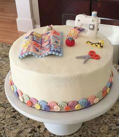 Sewing cake. So pretty!