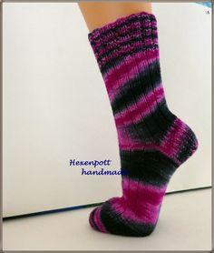 Socken handgestrickt HOLYNEBEL Gr. 41-42 von Hexenpott auf DaWanda.com