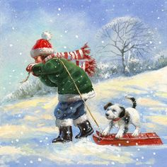 Billede fra http://www.advocate-art.com/community/wp-content/uploads/2011/11/Jim-Mitchell_Advocate-art_illustration_agency_snowman_kid_puppy.jpg.