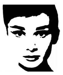 Illusion Knit Audrey Hepburn, Shadow Knitting Graph & Written Blanket Pattern, PDF Digital File by FADesignCharts on Etsy Face Stencils, Stencil Art, Stencil Designs, Silhouette Painting, Ecole Art, Black And White Painting, Creative Portraits, Art Plastique, Painting & Drawing
