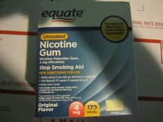 Gum and Lozenges: Equate Nicotine Gum, 4 Mg, Original Flavor, 170 Pieces, 2018 -> BUY IT NOW ONLY: $31.95 on eBay!