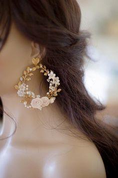 Jewelry Design Earrings, Ear Jewelry, Cute Jewelry, Fancy Jewellery, Stylish Jewelry, Fashion Jewelry, Bridal Earrings, Bridal Jewelry, Pearl Earrings