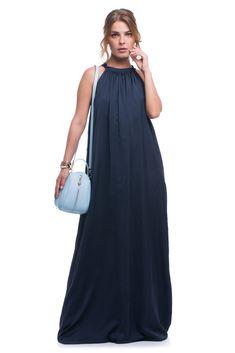 A silk dress accessorised with blue C'iel cross body bag and Freywille bangles Blue Cross, Small Backpack, Body Bag, Silk Dress, Cross Body, Leather Bag, Light Blue, Cold Shoulder Dress, Bangles