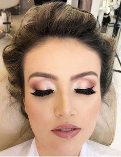 How do I get a soft glam makeup look # get # a # glam # me # make . - E Y E S - How do I get a soft glam makeup look # get up - Natural Wedding Makeup, Wedding Makeup Looks, Bridal Hair And Makeup, Bride Makeup, Wedding Beauty, Natural Makeup, Natural Beauty, Wedding Makeup Brunette, Pink Wedding Makeup