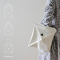 Design bag based on traditional handcrafts origami and patchwork. http://www.x6lifestyle.com/product/multifunctionele-tas-omni-bag-kumeko/