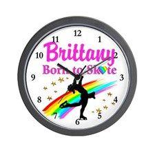 SKATING FOREVER Wall Clock Keep motivated looking every day at our Figure Skating clocks.  http://www.cafepress.com/sportsstar/10189550 #Figureskater #IceQueen #Iceskate #Skatinggifts #Iloveskating #Borntoskate #Figureskatinggifts #PersonalizedSkater #Skaterclock