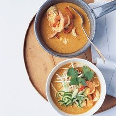 A simple Thai noodle curry that's full of fresh prawns, coriander and lime