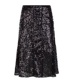 VICTORIA BECKHAM Sequin Flared Skirt. #victoriabeckham #cloth #