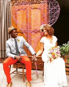 As cores trazem alegria ao casamento!