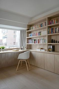 Large window brings in ample natural light into the home office
