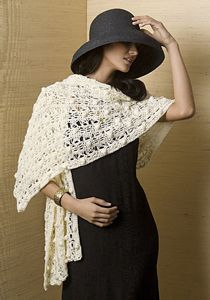Pearl River Wrap - free pattern featuring Broomstick Lace Crochet!