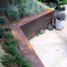New landscaping ideas for slopes retaining walls corten steel 37 ideas